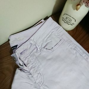 American Eagle lilac jeggings with zip detail sz 6